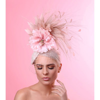 Victoria, Blush Fascinator by Arturo Rios