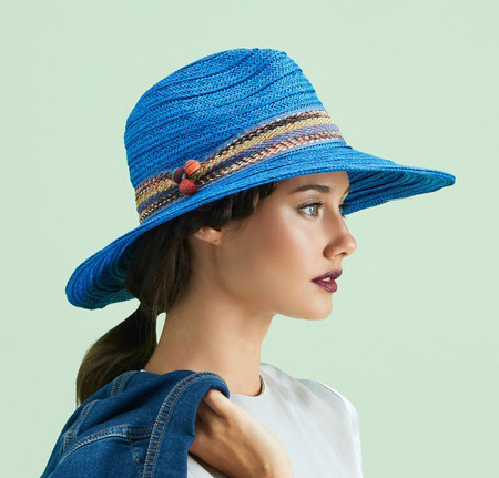 Ladies Electric Blue Fedora by Giovannio