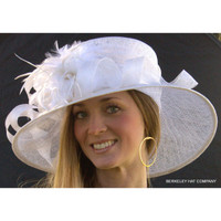 Royal Ascot Derby Hat in White