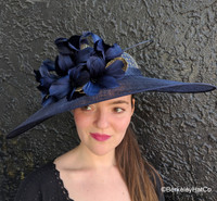 Navy and Gold Kentucky Derby Hatinator