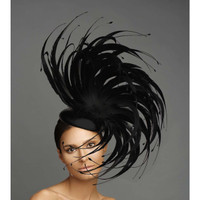 Coco, Black Feather Fascinator by Arturo Rios