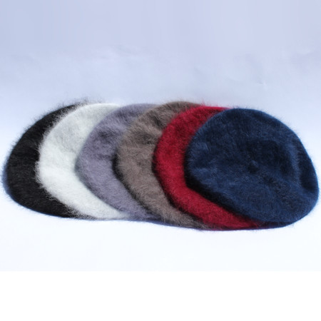 Angora berets in 6 colors
