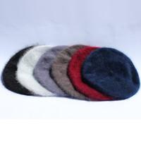 Angora berets in 6 colors