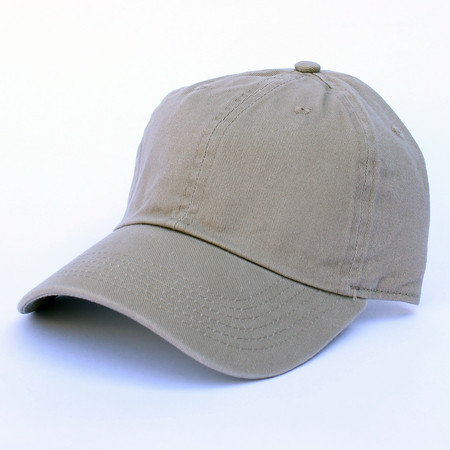 Khaki Cotton Baseball Cap