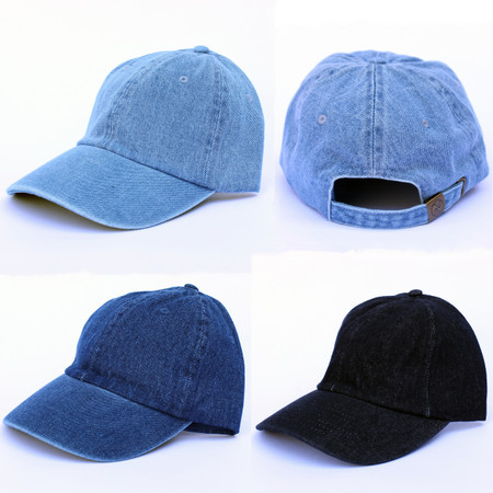 Denim baseball caps