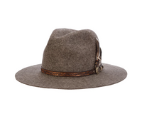 Biltmore Messenger fedora in brindle mix