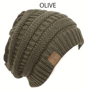 Short Alternating-Knit Beanie