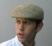 Ascot Cap in Seagrass Straw