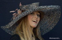 Leopard Taupe Classy Sassy Kentucky Derby Hat