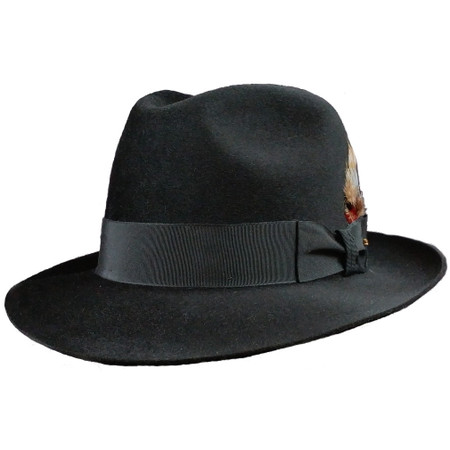 Stetson Firenze in Black with the brim down