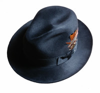 Stetson Firenze Midnight Navy Blue photo taken in bright light
