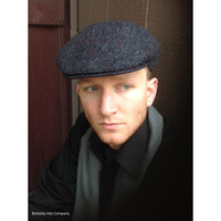Donegal Tweed Ivy Cap in Blue with Color Flecks