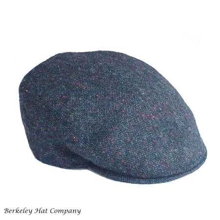 Flat Cap Fine Donegal Tweed in Blue with Color Flecks (IR95)