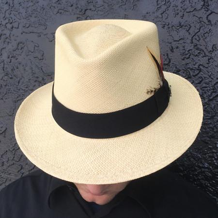 Taylor Natural Panama Fedora brim down