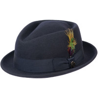 Diamond Stingy Brim in Navy
