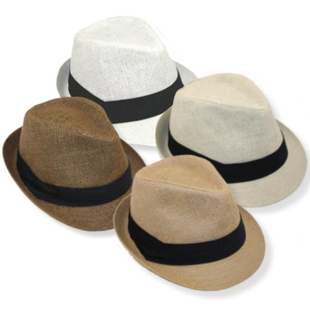 Woven Paper Fedoras