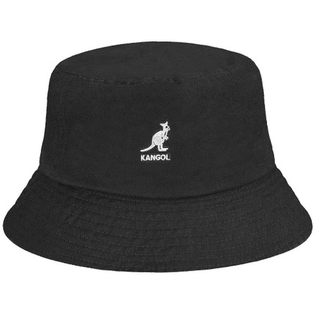 Kangol washed bucket hat in black
