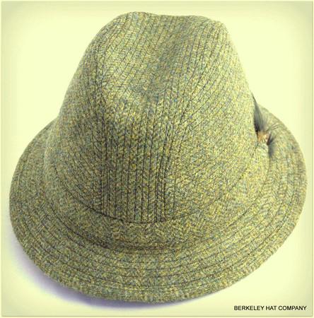 Irish Walking Hat, Green Herringbone (IR66)