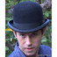 Bowler Derby Hat, Black Fur Felt