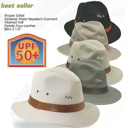 Canvas Safari Hat by Scala color options