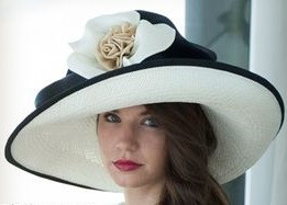 Christine A. Moore s Hibiscus Kentucky Derby Hat 2cc14690ff5