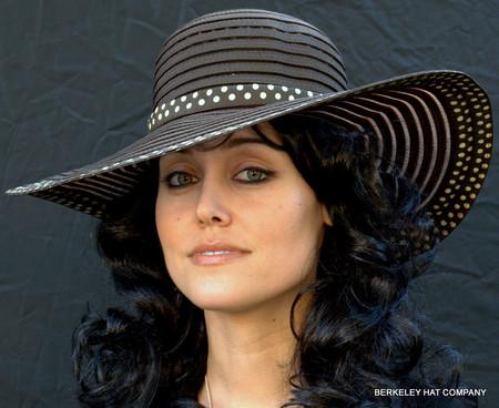 Woman's Polkadot Ribbon Hat