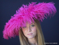 Pink Fantastic Feather Fascinator for the Kentucky Derby
