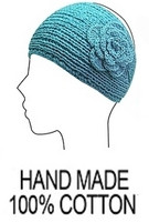 Women's Knit Head Band in Cotton (turquoise)