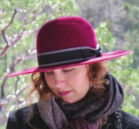 Stiff Flat Brim Wool Felt Hat - Berkeley Hat Company a1c6c277e0f
