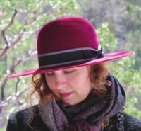 Stiff Flat Brim Wool Felt Hat