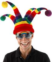 Rainbow Wacky Jester Hat