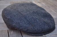Irish Wool Grey Driving Flat Cap  (IR78)