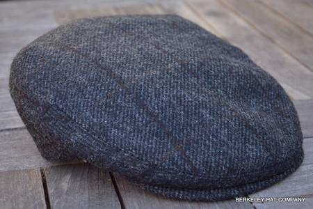 Irish Wool Grey Driving Flat Cap