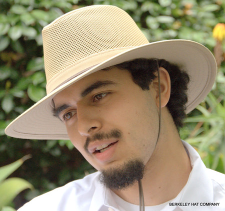 Cotton Aussie Hat, with Mesh Sided Crown