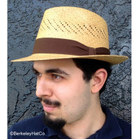 Ventilated Panama Fedora, small brim
