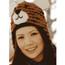 Tiger Pilot Hat-wool knit