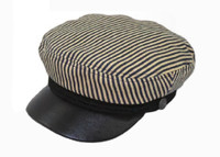 Striped Greek Style Sailor Cap