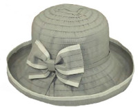 Packable Ribbon Hat with Bow