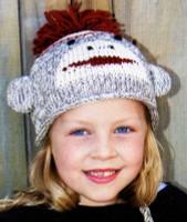 Kids Sock Monkey Hat