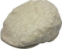 Linen Ivy Cap with Cotton Lining in beige