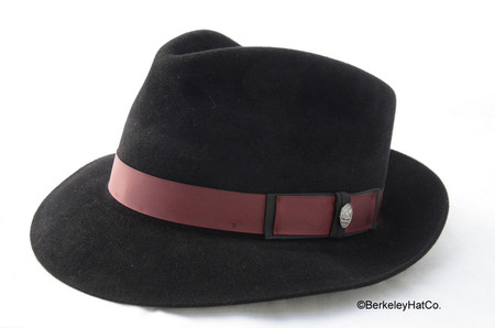Stetson Lowell Fur Felt Fedora in Black