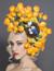 Lexy, Orange Sweet-Pea Fascinator by Arturo Rios