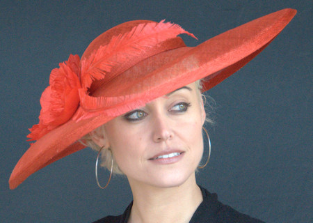 Red Kate's Sinamay Straw Derby Hat