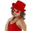 Top Hat in Velvet in red