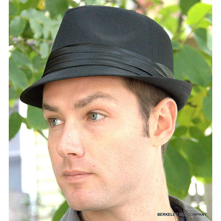 Short Brim Black Fedora Hat