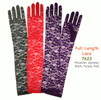 Lace Gloves, Above The Elbow. 18 inches 90% crinlon 10% nylon.