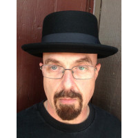Men's Pork Pie Hat in Wool Felt front view