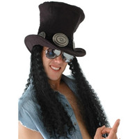 Guitar Superstar Top Hat with Hair