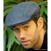 Fine Weave Donegal Driving Cap II Charcoal (IR05)