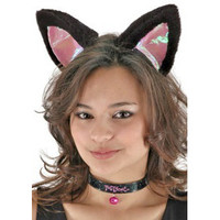 CAT EAR SET - Cat Ear Headband and Pussycat collar with bell.